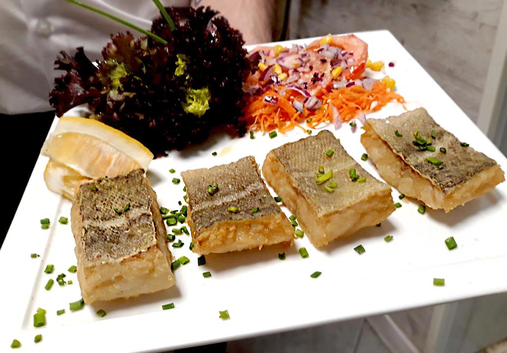 Fried cod Norte-Sur. Restaurante cervecería NorteSur